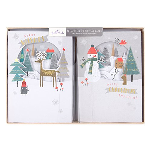 hallmark-handmade-christmas-card-pack-merry-wishes-10-cards-2-designs