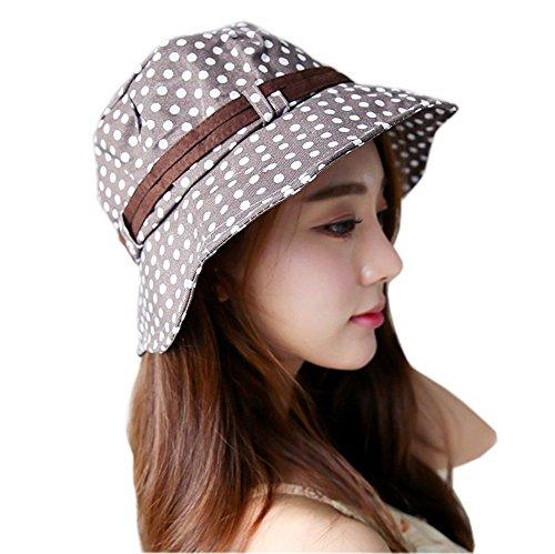 FakeFace da donna con orlo stretto balze Uwear-Cappello parasole da