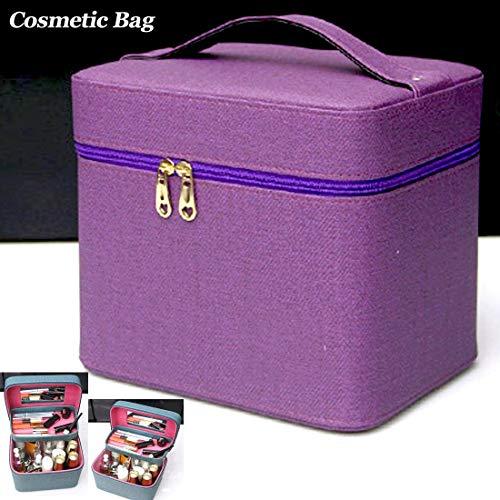 MMPY Multifunktionale tragbare doppelschichtige kosmetische aufbewahrungstasche reise mehrschichtige kosmetische aufbewahrungsbox große kapazität tragbare kosmetische tasche falten reise kosmetiktasch -
