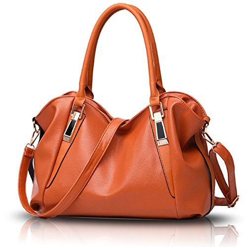 Sunas Ms. bag 2017 nuovo classico borsa morbida di modo casuale del messaggero sacchetto di spalla portatile borsa portafoglio marrone