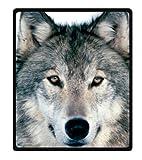 YISUMEI - Manta de Forro Polar Suave, diseño de Lobo, Apta para Cama o sofá, algodón Mixto,...