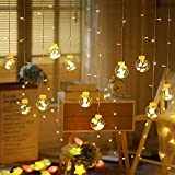 CITRA Indoor Outdoor String Lights Window Curtain Lights with 8 Flashing Modes Wedding