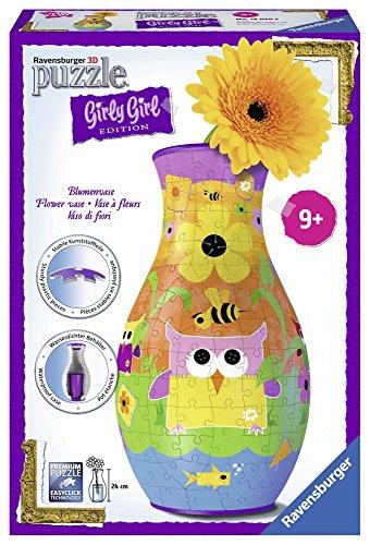 Ravensburger - Girly Girl, Puzzle 3D jarrón, diseño búhos, 216 Piezas (12050)