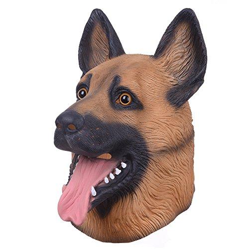 Animatey Hundemaske Halloween Maske Hund Deutscher Schäferhund Tiermaske Party