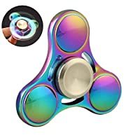Fidget Spinner, Rainbow Tri Spinner With High Speed Bearing