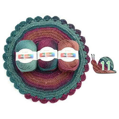 Supefriendly morbido filato pettinato arcobaleno colori sfumati fai-da-te per bambini maglia lana scialle sciarpa maglione uncinetto filo forniturefilati per maglieria-11