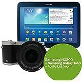 Samsung NX300 Bundle - inkl. 18-55mm Objektiv inkl. Galaxy Tab 3 10.1 schwarz