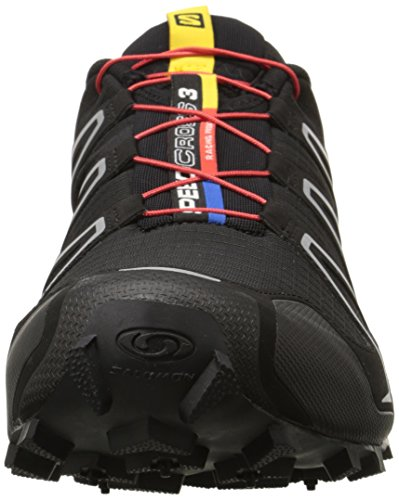 Salomon Speedcross 3 Herren Traillaufschuhe Schwarz (Black/Black/Silver Metallic-X)
