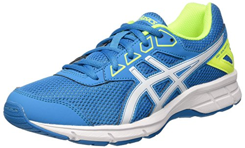 Asics Gel Galaxy 9 Gs, Scarpe Running Unisex - Bambini, Multicolore (Blue Jewel/White/Safety Yellow), 39 EU
