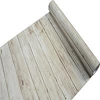 Forro para estante rústico de madera, de papel de contacto vinilo autoadhesivo para encimera de cocina, armarios, cajones y muebles de pared adhesivo para manualidades (0.045 x 10 m, color marrón claro)