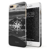 Glitbit Coque pour iPhone 7 Plus / 8 Plus Case Compass Wanderlust Travel Explore Lets...