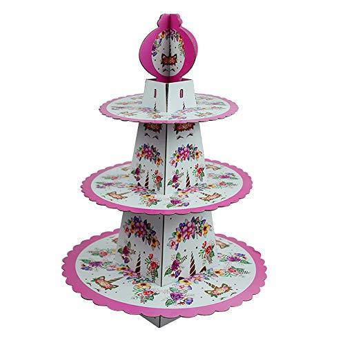 HANDAN Einhorn Cupcake Ständer Einhorn Geburtstag Einhorn Party Einhorn Einhorn Einweg Tortenständer Geburtstagsparty Tortenständer Einhorn Baby Dusche Einhorn Einhorn1 pcs 38.5*29.5