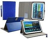 Emartbuy® Digiland DL1010Q/8163 10.1 Pollice Tablet PC Universale Serie (10-11 Pollice) Blu Angolo Multi Esecutivo Portafoglio Custodia Case con Scomparti per Carte di Credito + Stilo