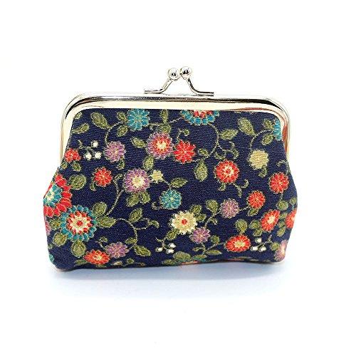 Mujer señora pequeña cartera cerrojo monedero bolsa de embrague snac