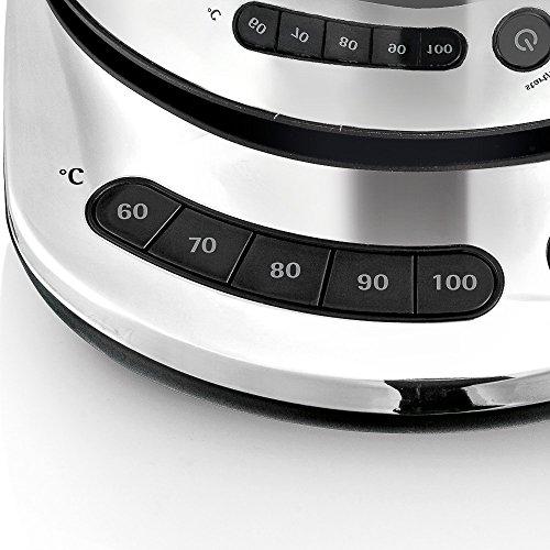WMF Skyline Hervidor Digital Plateado Cromargan Acero Inoxidable 18//10 1.6 litros 3000 W