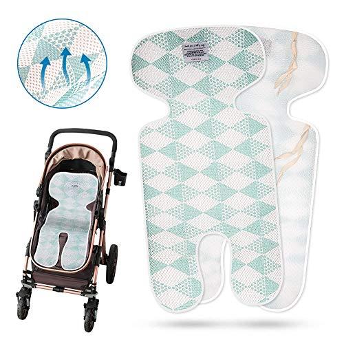 Sitzeinlage, Coquimbo Baby Sitzauflage Kinderwagen Universal Atmungsaktive Sitzbezug für Buggy, Kindersitz und Babyschale (Blau)