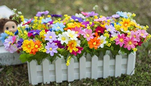 flores decorativas Artificial seda mini flores y plantas para la decoración de interiores (mucho color) en una planta de vid colgante falso falso hojas Garland Home Garden Wall Potted 30cm , C