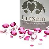 EinsSein 600x Diamantkristalle 12-10- 5mm Mix rosa-pink Dekoration Streudeko Konfetti Tischdeko Hochzeit Diamanten Diamant Glas groß Geburtstag