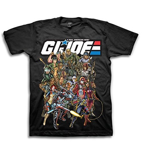 G.I. Joe Real American Hero Characters Erwachsene schwarz T-Shirt (Medium) -