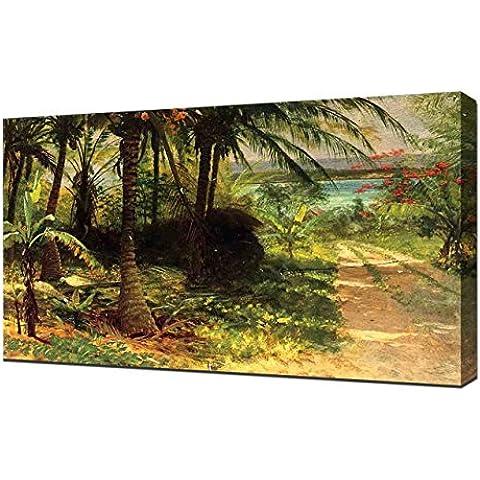 Albert Bierstadt–Paesaggio tropicale con barche da pesca