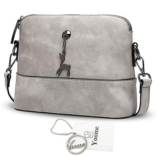 Yoome Hollow Pendant Printing Nette Tasche für Frauen Shell Tasche Mädchen Taschen für College - Blau Grau