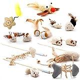 4yourpet Katzenspielzeug MEGAPACK, Set aus 14 natürlichen Spielzeugen für Katzen