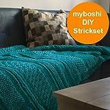 Strick Set für gestrickte Decke Tucson: Strickanleitung