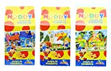Mega Value Pack of 3 Official Noddy 12 Piece Wooden Jigsaw Puzzles 21cm x 29cm - Chickens, Noddy & Bumpy Dog, Toytown Police Station