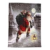 Wawer 70X100CM Weihnachts Muster Flanell Decke 3D Kuscheldecke Sofabettdecke Steppdecke TV-Decke Flanell Stoff Wohnzimmer Schlafsack Decke für Kinder und Erwachsene (A)
