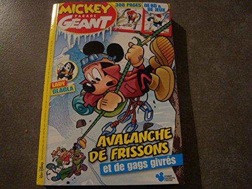 MICKEY PARADE GEANT N°344 AVALANCHE DE FRISSONS ET DE GAGS GIVRES par Divers