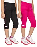 #3: OCEAN RACE Girls Stylish attarctive Colors Cotton Capris(3/4 Th Pant)-Pack of 2
