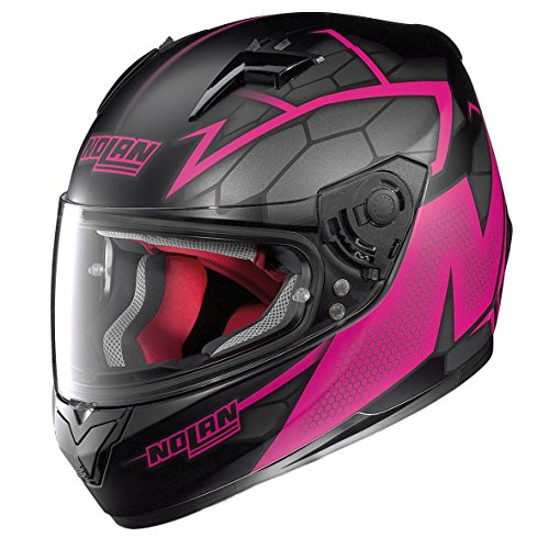 Casco Nolan integral N64 Hexagon 087 Neno fuxia talla XS