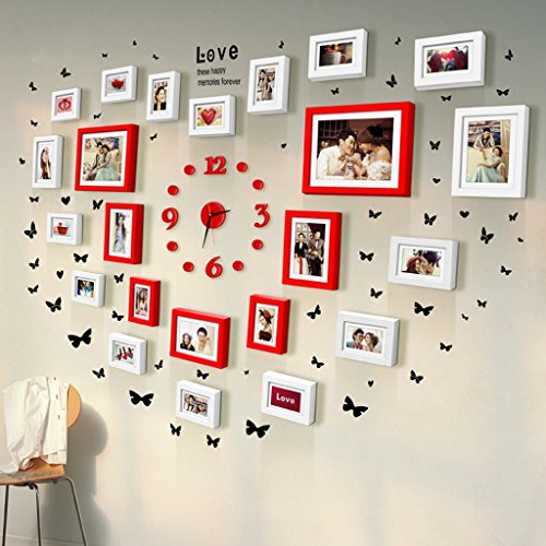 Asl-Holz Kombination Wand Rahmen Herzform Hochzeitskleid Fotokunst Geschenke Hochzeits-Camera...