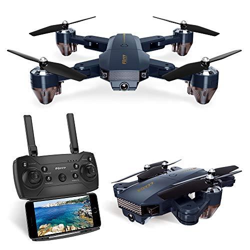 pengrui Faltbare Drohne mit Kamera, WiFi FPV Quadrocopter mit 720p Weitwinkel HD Kamera Live Video Mobile App Kontrolle RC Helikopter für Kinder -Höhenhaltung,One Key Start,Zusätzliche Batterie