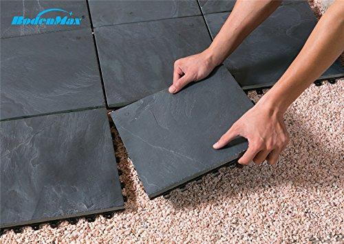 Piastrelle per pavimenti in ardesia in pietra naturale bodenmax