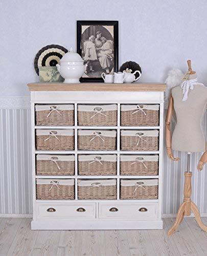 Klassische Kommode, Sideboard, Apothekerschrank, Wäschekommode, Schubladenkommode aus Holz im zeitlosen Landhausstil, hochwertige Verarbeitung - Palazzo Exclusive