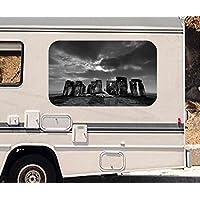 3D Wandtattoo Stonehenge Steinkreis  England UK Wand Aufkleber Durchbruch 11N733