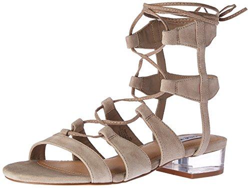 Steve Madden Women's Chely Gladiator Sandal, Taupe Suede, 8.5 M US (Gladiator Madden Steve)