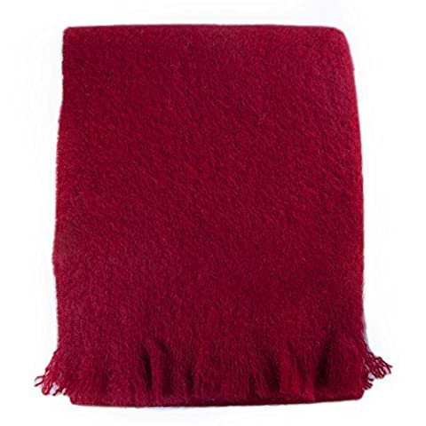 Wool Company Classic Mohair Throw-Wine by The Wool