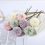 GGStudy Fleur Artificielle Ping-Pong Daisy Petite Herbe Balle Faux Fleur Tenant Fleur...