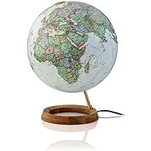 National Geographic Neon Executive: Leuchtglobus, polit. Antikdesign, Holzfuß Eiche (Alter Globus)