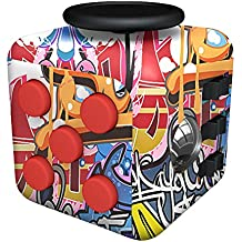 Fancyku Fidget Attention Cube Relieves Stress And Anxiety For Children And Adults, Graffiti