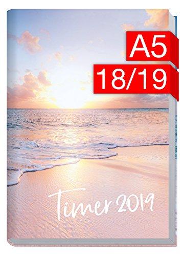Preisvergleich Produktbild Chäff-Timer Classic A5 Kalender 2018 / 2019 [Traumstrand] 18 Monate Juli 2018-Dezember 2019 - Terminkalender mit Wochenplaner - Organizer - Wochenkalender