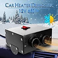 Ameginer 650W 12V Portable car heaters van heating air heaters Auto Defroster compact Demister electrical appliances-12v