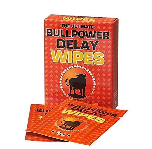 Bull Power Delay Wipes 6 Tücher Potenzmittel zur Orgasmus Verzögerung und Verlängerung der Erektion