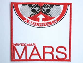 "30 SECONDS TO MARS Band Embroidered Iron On Patch 2.9""7.4cm x 2.9""/7.4cm By SSLINK"