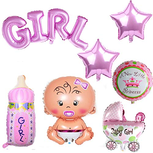 iumballon Baby Folienballon Baby Dusche Dekoration Rose,Babyshower It's a Girl Babyparty Party und Dekoration (Mädchen) ()