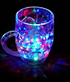#1: CONNECTWIDE® Rainbow Magic Color Cup with LED Light Party Mug,1 Unit, Capacity 250 ml