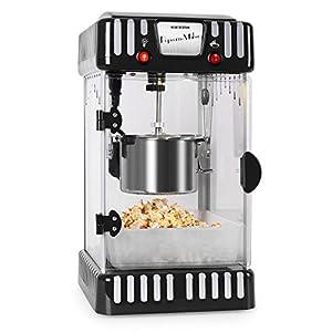 Klarstein Volcano Popcornmaschine • Popcorn-Maker • Popcorn-Bereiter • Retro-Design • 300 Watt • Edelstahl-Topf • Innenbeleuchtung • ca. 60 l/h • schwarz