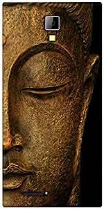 Snoogg Buddha actual Designer Protective Back Case Cover For Micromax Canvas Express A99